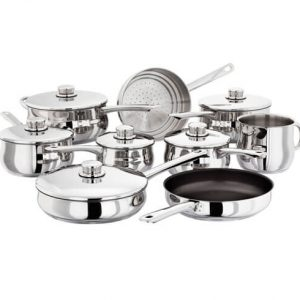 S1F2 Stellar 1000 9 Pce Saucepan and Steamer Set