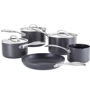 Stellar 6000 Hard Anodised 5 Pce Saucepan Set